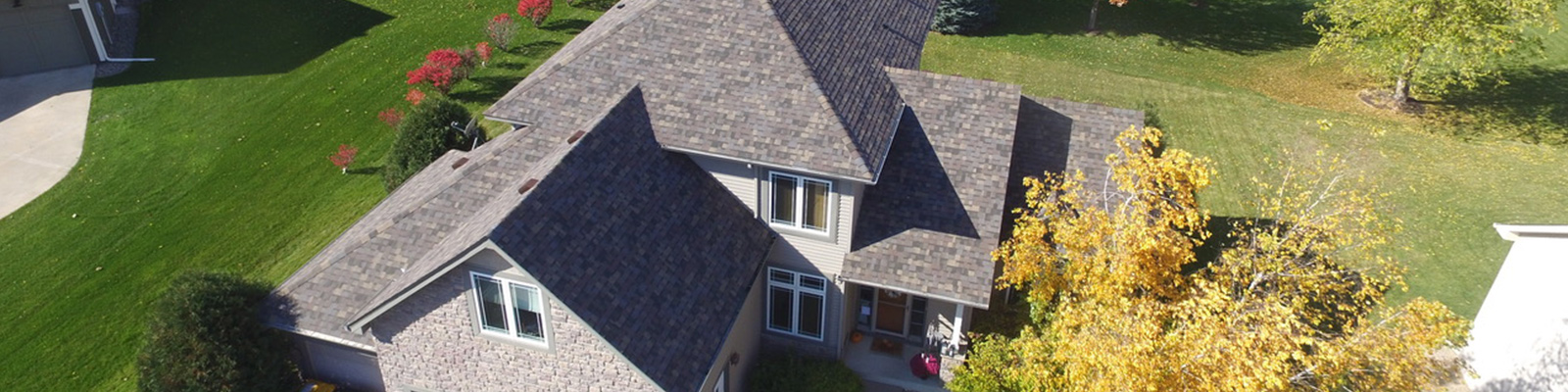 House with new Residential Roof Replacement in Bloomington MN