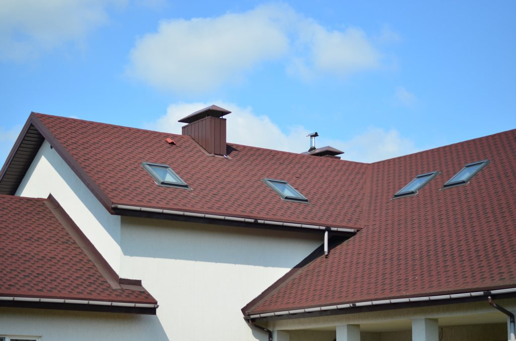 cottoge roof with small windows