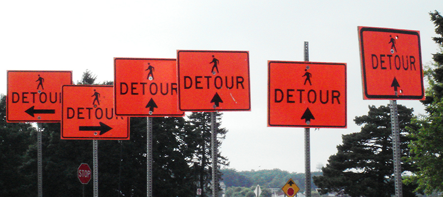 Detour signs that could be used on a project