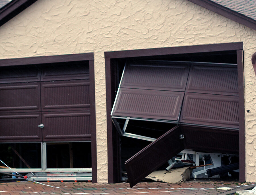 house that has damage from storm