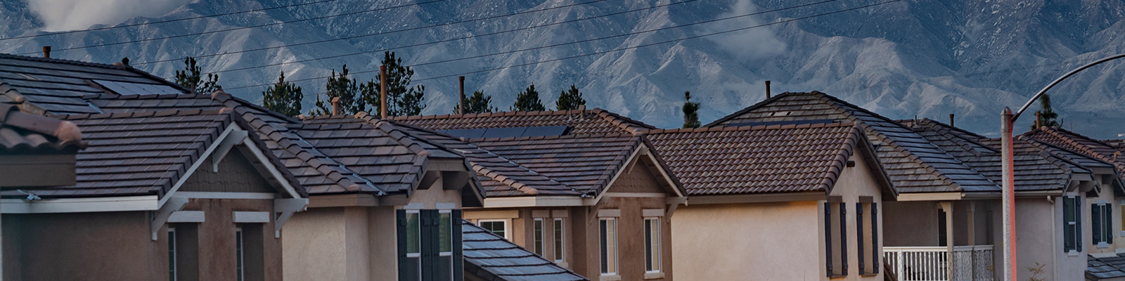 Roofs by the mountainside